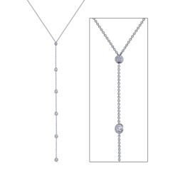 2.12 CTTW Platinum Simulated Diamond Classic Necklaces