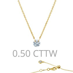 0.5 CTTW Gold Simulated Diamond Lassaire In Motion Necklaces