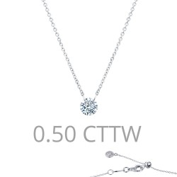 0.5 CTTW Platinum Simulated Diamond Lassaire In Motion Necklaces