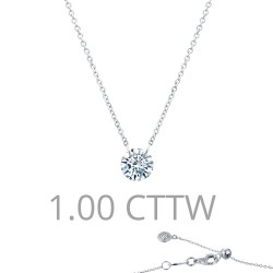 1 CTTW Platinum Simulated Diamond Lassaire In Motion Necklaces