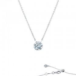1 CTTW Platinum Simulated Diamond Lassaire In Motion Necklaces