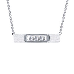 0.33 CTTW Platinum Simulated Diamond Lassaire In Motion Necklaces