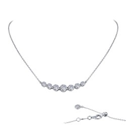 2.02 CTTW Platinum Simulated Diamond 7 Symbols Of Joy Necklaces