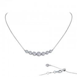 2.02 CTTW Platinum Simulated Diamond 7 Symbols Of Joy Necklaces