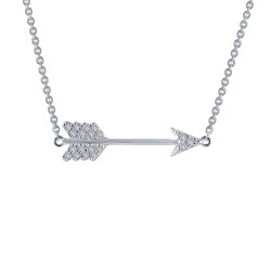 0.19 CTTW Platinum Simulated Diamond Classic Necklaces