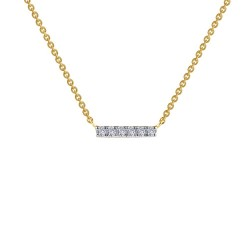0.09 CTTW 2 Tone Simulated Diamond Classic Necklaces