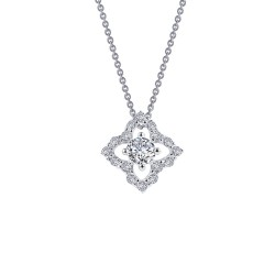 0.49 CTTW Platinum Simulated Diamond Classic Necklaces