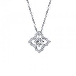 0.49 CTTW Platinum Simulated Diamond Classic Necklaces