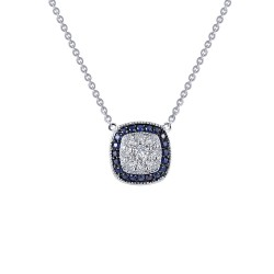 0.51 CTTW Platinum Sapphire Heritage Necklaces