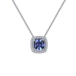 0.76 CTTW Platinum Tanzanite Classic Necklaces