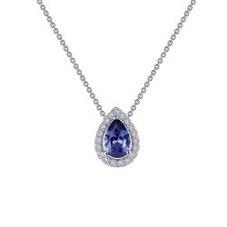 0.58 CTTW Platinum Tanzanite Classic Necklaces