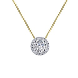 0.62 CTTW 2 Tone Simulated Diamond Classic Necklaces