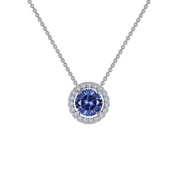 0.62 CTTW Platinum Tanzanite Classic Necklaces