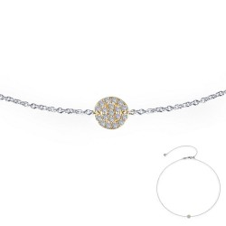 0.44 CTTW 2-Tone Simulated Diamond Classic Necklaces
