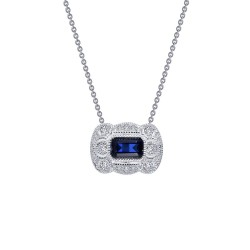 0.95 CTTW Platinum Sapphire Heritage Necklaces
