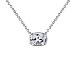 2.21 CTTW Platinum Simulated Diamond Monte Carlo Necklaces