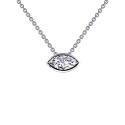 1.2 CTTW Platinum Simulated Diamond Monte Carlo Necklaces