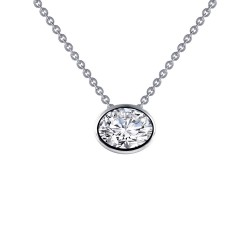 1.46 CTTW Platinum Simulated Diamond Monte Carlo Necklaces