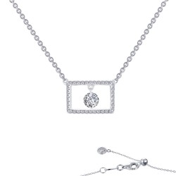 0.86 CTTW Platinum Simulated Diamond Lassaire In Motion Necklaces