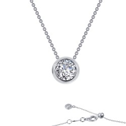 0.71 CTTW Platinum Simulated Diamond Monte Carlo Necklaces