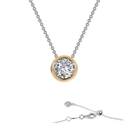 0.71 CTTW 2-Tone Simulated Diamond Monte Carlo Necklaces