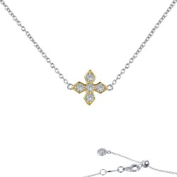 0.45 CTTW 2-Tone Simulated Diamond Classic Necklaces