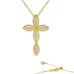 0.3 CTTW Gold Simulated Diamond Classic Necklaces