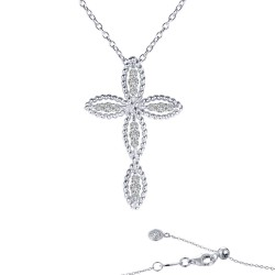 0.3 CTTW Platinum Simulated Diamond Classic Necklaces