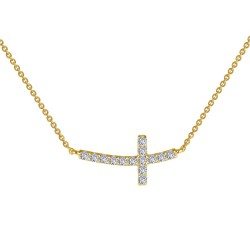 0.53 CTTW Gold Simulated Diamond Classic Necklaces