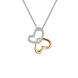 0.45 CTTW 2 Tone Simulated Diamond Classic Necklaces