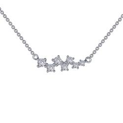 0.48 CTTW Platinum Simulated Diamond 7 Symbols Of Joy Necklaces