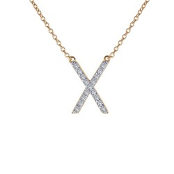 0.42 CTTW 2 Tone Simulated Diamond Classic Necklaces