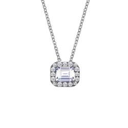 0.56 CTTW Platinum Simulated Diamond Classic Necklaces
