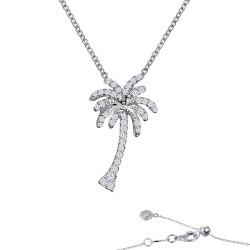 0.66 CTTW Platinum Simulated Diamond Nautical Necklaces