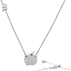 0.88 CTTW Platinum Simulated Diamond Classic Necklaces