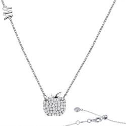 0.88 CTTW Platinum Simulated Diamond Classic Necklaces