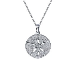 0.99 CTTW Platinum Simulated Diamond Nautical Necklaces