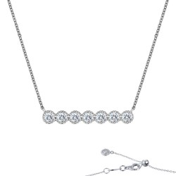 0.6 CTTW Platinum Simulated Diamond 7 Symbols Of Joy Necklaces