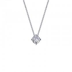1.1 CTTW Platinum Simulated Diamond Classic Necklaces