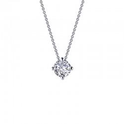 1.9 CTTW Platinum Simulated Diamond Classic Necklaces