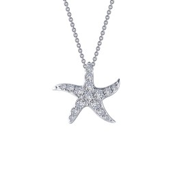 1.01 CTTW Platinum Simulated Diamond Nautical Necklaces