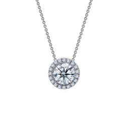 0.63 Cttw Platinum Simulated Diamond Classic Necklaces