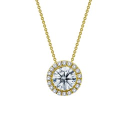 1.03 Cttw Gold Simulated Diamond Classic Necklaces