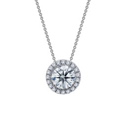 1.03 Cttw Platinum Simulated Diamond Classic Necklaces