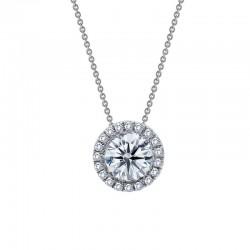 1.03 Cttw Platinum Simulated Diamond Classic Necklaces