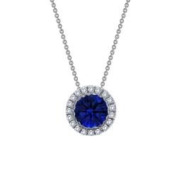 1.03 Cttw Platinum Sapphire Classic Necklaces
