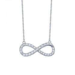 0.48 Cttw Platinum Simulated Diamond Classic Necklaces