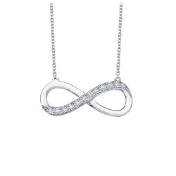 0.24 Cttw Platinum Simulated Diamond Classic Necklaces