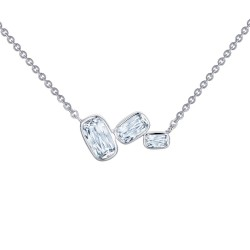 2.91 CTTW Platinum Simulated Diamond Monte Carlo Necklaces