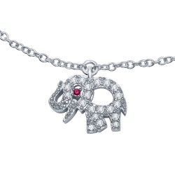 0.22 Cttw Platinum Ruby Classic Necklaces